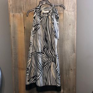 White House Black Market Size 8 Zebra Print Dress